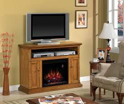 47 25 cannes antique oak entertainment center electric fireplace