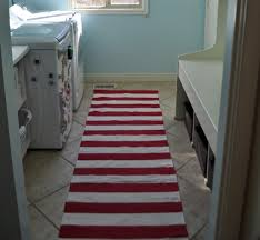 red and white striped laundry room rugs and mats flooring ideas