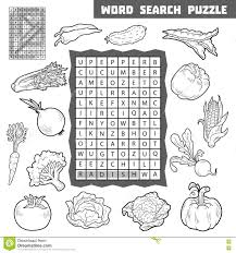 vector crossword game for children about vegetables stock vector