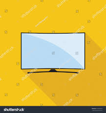 modern curved tv icon flat style stock vector 530696650 shutterstock