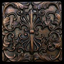 Bronze Finsih Decorative Backsplash Tile - Bronze backsplash tiles