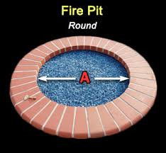 Fire Pit With Lava Rocks - fireglass calculator for circles