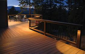 solar lights for deck posts ideas magnificent lighting design