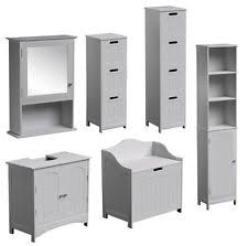 Floor Standing Bathroom Cabinets by Bathroom Tall Cabinets Ebay
