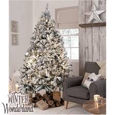 picture of winter 7ft snowy artificial tree