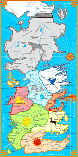 Map Of Essos A Song Of Ice And Fire A Map Of Westeros And Essos