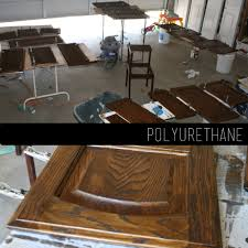 Polyurethane Kitchen Cabinets The How To Gal How To Refinish Kitchen Cabinets