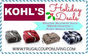 kohls best black friday deals kohls heated blanket sale just 25 19 shipped reg 80