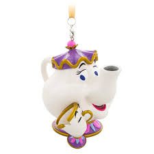 mrs potts and chip figural ornament and the beast