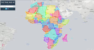 True Map Of The World by The Real True Size Of Africa Shittymapporn