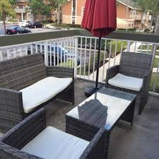 Patio Furniture Review Review Four Piece Rattan Patio Furniture Set By Goplus Cozy