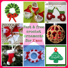 fast and free crochet ornament patterns for christmas maggie s