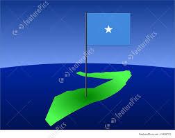 Map Of Somalia Map Of Somalia With Flag Stock Illustration I1438773 At Featurepics
