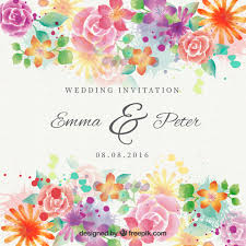 wedding invitations freepik watercolor beautiful flowers wedding invitation vector free