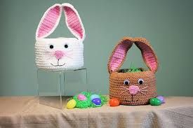 easter bunny baskets 14 bunny crochet patterns for easter
