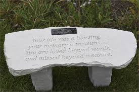 personalized memorial bench your life was a blessing