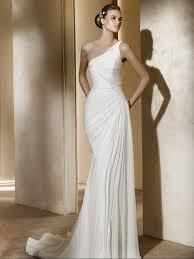 column wedding dresses column one shoulder pin modern chiffon wedding dress wd 0406