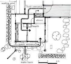 floor plan traditional teahouse 3 meters square shire shambala
