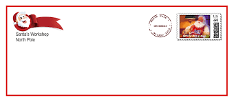 9 best images of santa envelope template free printable envelope