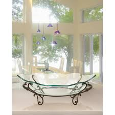 decorative bowls for tables decorative bowl and metal stand in wrought iron 72292 the home depot