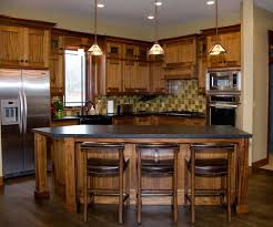mission style kitchen island endearing mission style kitchen featuring curved shape brown color