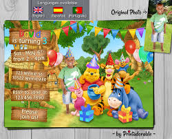 winnie the pooh invitation winnie birthday invite baby disney