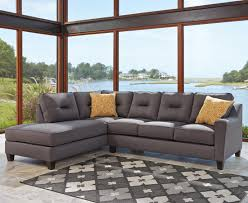 Sectional Chaise Benchcraft Kirwin Nuvella Sectional With Left Chaise In