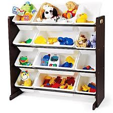 Toy Box With Bookshelves by Tot Tutors Toy Organizer Walmart Com