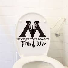 aliexpress com buy dctop ministry of magic this way toilet aliexpress com buy dctop ministry of magic this way toilet sticker funny diy bathroom wall decal waterproof removable poster sticker home decor from