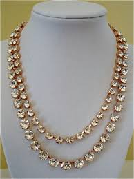 rose gold crystal necklace images Rose gold crystal statement earrings the crystal rose bridal JPG