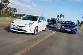 compact cars vs economy cars toyota prius vs vw golf gte vs ford mondeo hybrid auto express