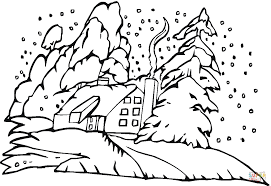 pine tree in the christmas coloring page free printable coloring