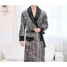robe de chambre leopard peignoir déesse k polaire léopard argent homme lepeignoir fr