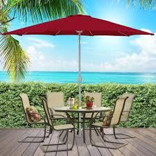 Beech Umbrella Patio Umbrella 9 U0026 039 Aluminum Patio Market Umbrella Tilt W