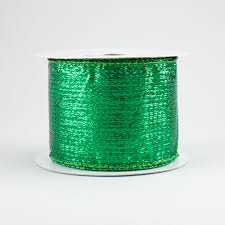 emerald green ribbon 2 5 metallic lamé ribbon emerald green 10 yards rg0140006
