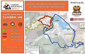 map of camden maine camden snow bowl trail