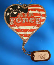 military christmas ornaments free personalization