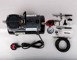 switzer as 186 complete airbrush kit compressor with tank nail
