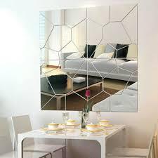 7pcs 3d acrylic modern mirror decal art mural wall sticker home