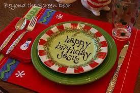 Is Really Jesus Birthday Really Neat Jesus Birthday Plates Centered