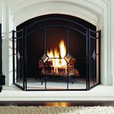 amazon com pleasant hearth arched diamond 3 panel fireplace