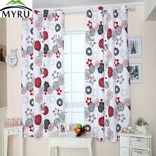 Curtains Black And Red Aliexpress Com Buy Myru Pastoral Style Canvas Curtain Black And