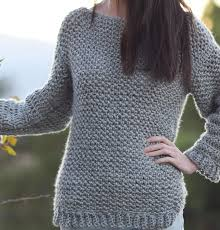 how to make an easy crocheted sweater knit like in a stitch