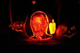 steve jobs tribute halloween pumpkins obama pacman