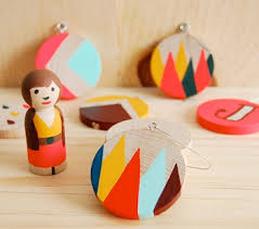 handpainted wood ornaments things to make and do crafts and
