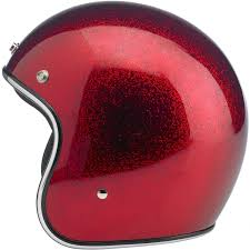 Comfortable Motorcycle Helmets Biltwell Bonanza Helmet Dot Approved Wine Red Mf This Leaner