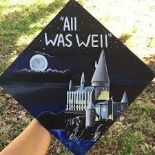 custom graduation caps harry potter graduation cap ideas popsugar tech