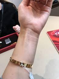 size cartier bracelet images Cartier love bracelet sizing help please purseforum 33151