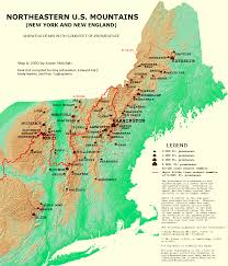 Map Of New York And Pennsylvania by Peaklist Prominence Lists And Maps