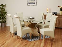 Glass Dining Table With 6 Chairs Rounded Vs Rectangular Glass Dining Table Which One Is Better
